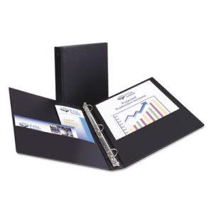 "Avery Economy Round Ring Reference Binder, 1"" Capacity, Black (AVE03301)"