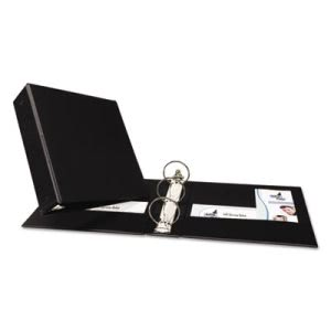 "Avery Economy Round Ring Reference Binder, 3"" Capacity, Black (AVE03602)"