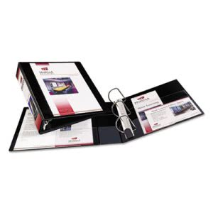 "Avery Nonstick Heavy-Duty EZ-Turn Ring Binder, 2"" Capacity, Black (AVE05500)"