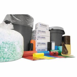 56 Gallon Clear Trash Bags, 43x46, 11mic, 200 Bags (IBSVALH4348N12)