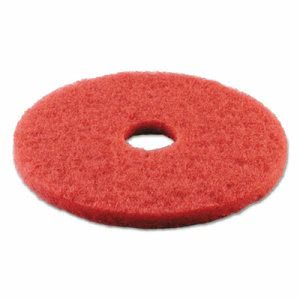 "Premiere Red 14"" Floor Buffing Pads, Synthetic Fiber, 5 Pads (PAD 4014 RED)"