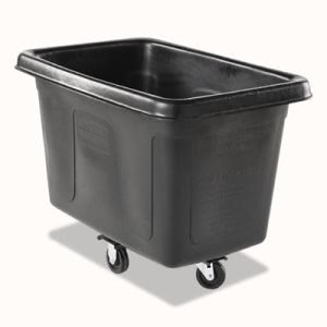 Rubbermaid 4608 Cube Truck, 8 cu.ft., 300-lb. Capacity, Black (RCP4608BLA)