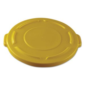 Rubbermaid 261960 Round Lid for Brute 20 Gallon Container, Yellow (RCP261960YEL)