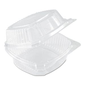 Pactiv Sandwich Containers with Dome Lids, 500 Containers (PCTYCI81160)