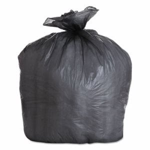 Boardwalk 56 Gallon Black Trash Bags, 43x47, 19mic, 150 Bags (BWK434722BLK)
