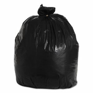 33 Gallon Black Garbage Bags, 33x39, 1.2mil, 100 Bags (BWK516)