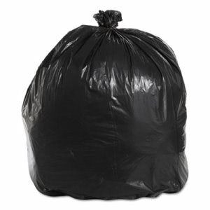 45 Gallon Black Garbage Bags, 40x46, 1.6mil, 100 Bags (BWK521)