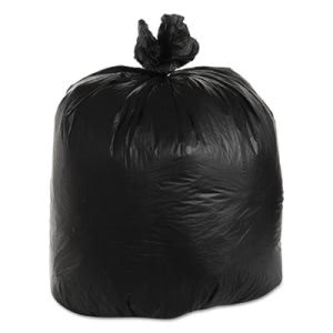 45 Gallon Black Trash Bags, 40x48, 22mic, 150 Bags (ESXBRSX48B)