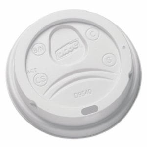 Dixie Sip-Through Dome Hot Drink Lids for 10-oz Cup, White, 100 Lids (DXEDL9540)