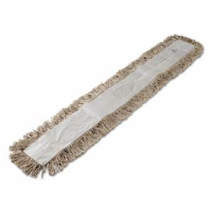 "Unisan 48"" Industrial Dust Mop Head, 48"" x 3"", White,  Each (UNS 1048)"