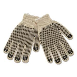 Boardwalk Men's PVC-Dotted String Knit Gloves, 12 pair (BWK792)
