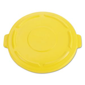 Rubbermaid 264560 Brute Vented Round Trash Can Lid, Yellow (RCP264560YEL)