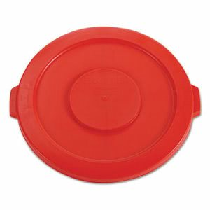 Rubbermaid 2631 Brute 32 Gallon Round Trash Container Lid, Red (RCP2631RED)