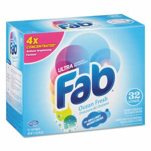 Fab Ocean Breeze Powdered laundry Detergent, 4 Boxes (PBC 36212)