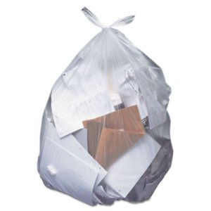 16 Gallon Clear Garbage Bags, 24x32, 0.35 mil, 500 Bags (HERH4832RC)