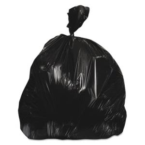 30 Gallon Black Trash Bags, 33x40, 22 mic, 250 Bags (HERZ6640WKR01)