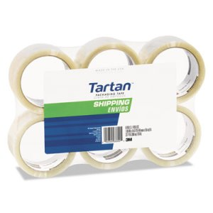 "Tartan General Purpose Packing Tape, 2"" x 55yds, 3"" Core, 6/Pack (MMM37102CRPK)"