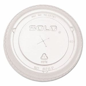 Solo Cup Ultra Clear Dome Cold Cup Lids f/16-24 oz Cups, 1,000 Lids (DCC626TSCT)