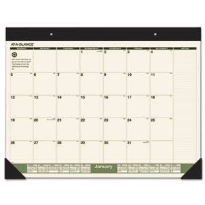 "At-a-glance Recycled Desk Pad, 22"" x 17"", 2016 (AAGSK32G00)"