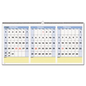 At A Glance Calendar.At A Glance Quicknotes 3 Month Wall Calendar Horizontal 2019 Aagpm1528