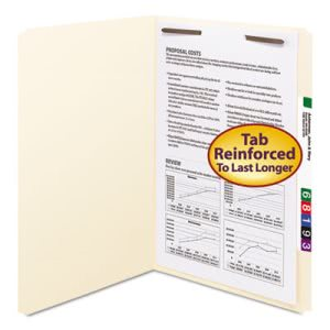 Smead One Fastener Straight Cut Top Tab Legal Manila Folders, 50/Bx (SMD19510)