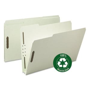 "Smead Recycled Pressboard Fastener Folders, Legal, 2"" Exp, 25 per Box (SMD20004)"