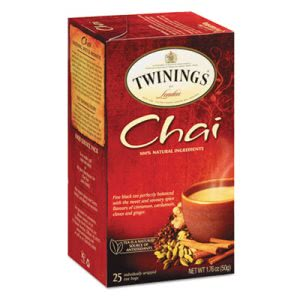Twinings Tea Bags, Chai, 1.76 oz, 25/Box (TWG09185)