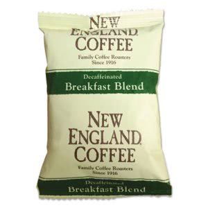 New England Coffee Portion Packs, Breakfast Blend Decaf, 24/Box (NCF026160)