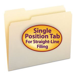 Smead File Folders, 1/3 Cut First Position, One-Ply Top Tab, Letter, Manila, 100/Box (SMD10331)
