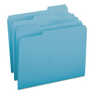 Smead File Folders, 1/3 Cut Top Tab, Letter, Teal, 100/Box (SMD13143)