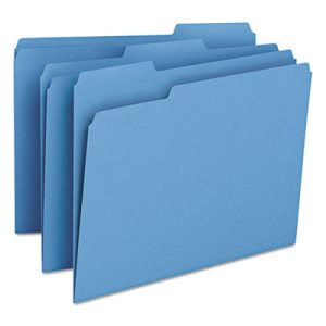 Smead File Folders, 1/3 Cut Top Tab, Letter, Blue, 100/Box (SMD12043)