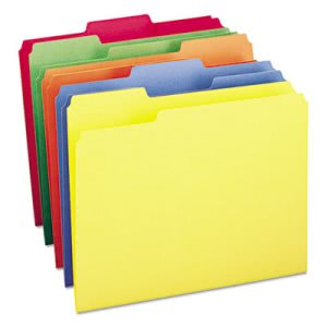 Smead File Folders, 1/3 Cut Top Tab, Letter, Assorted Colors, 100/Box (SMD11943)