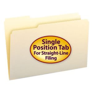 Smead Manila File Folders, 1/3 Cut First Position, Legal, 100/Box (SMD15331)