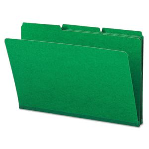 "Smead Recycled Folder, 1"" Expansion, 1/3 Cut Tab, Green, 25 per Box (SMD22546)"