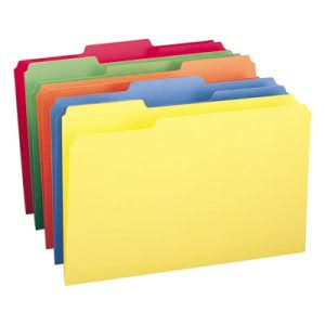 Smead File Folders, 1/3 Cut Top Tab, Legal, Assorted Colors, 100/Box (SMD16943)