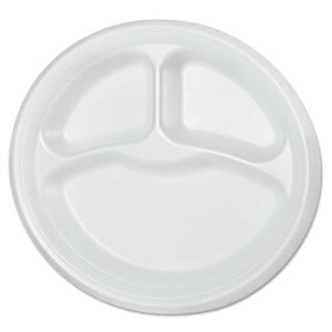 "Solo Laminated Foam 9"" Plate, White, 500 Plates (DCCRSF9C)"