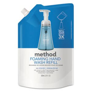 Method Foaming Hand Wash Refill, 28 oz. Pouch, Sea Minerals (MTH00667)