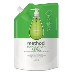Method Gel Hand Wash Refill, 34 oz., Cucumber Scent, Plastic Pouch (MTH00656)