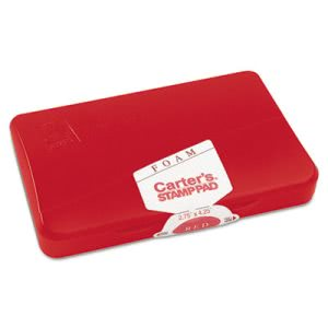 Carter's Foam Stamp Pad, 4 1/4 x 2 3/4, Red (AVE21371)