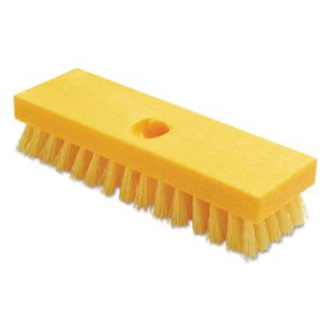 "Rubbermaid 9B36 Deck Brush, 9"" Plastic Block, Yellow, 6 Brushes (RCP9B36YELCT)"