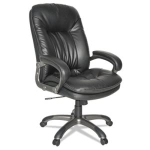 Oif Executive High-Back Swivel/Tilt Leather Chair, Black (OIFGM4119)