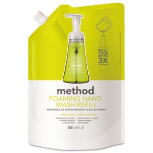 Method Foaming Hand Wash Refill, 28 oz Pouch, Lemon Mint (MTH01365)