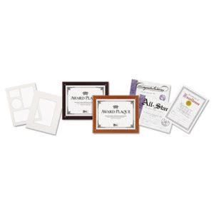 Plaque-In-An-Instant Kit w/Certificates/Mats, 10-1/2 x 13, Mahogany (DAXN100MT)