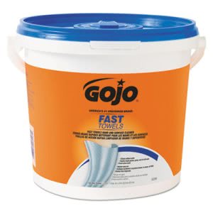 Gojo Fast Wipes Hand Cleaning Towels, Cloth, 4 Pails (GOJ6298)