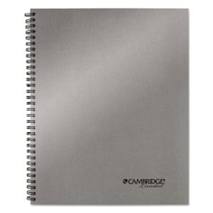 Cambridge Side-Bound Guided Business Notebook, 8 7/8 x 11, Silver (MEA06327)