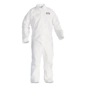 Kleenguard A20 Breathable Protection Coveralls, 4XL, White, 20/Carton (KCC49007)