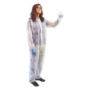 Impact Disposable Coveralls, 3XL, White, Polypropylene, 25/Carton (IMP73843XL)