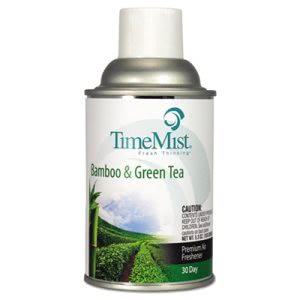 Timemist Fragrance Dispenser Refill, Bamboo/Green Tea, 12 Cans (TMS1047606CT)