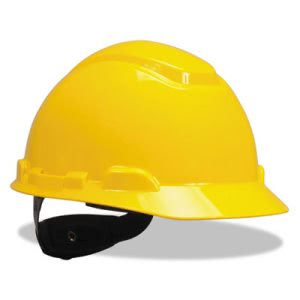 3m H-700 Series Hard Hat with 4-Point Ratchet Suspension, Yellow (MMMH702R)