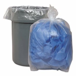 33 Gallon Clear Garbage Bags, 33x39, 1.1mil, 100 Bags (BWK530)